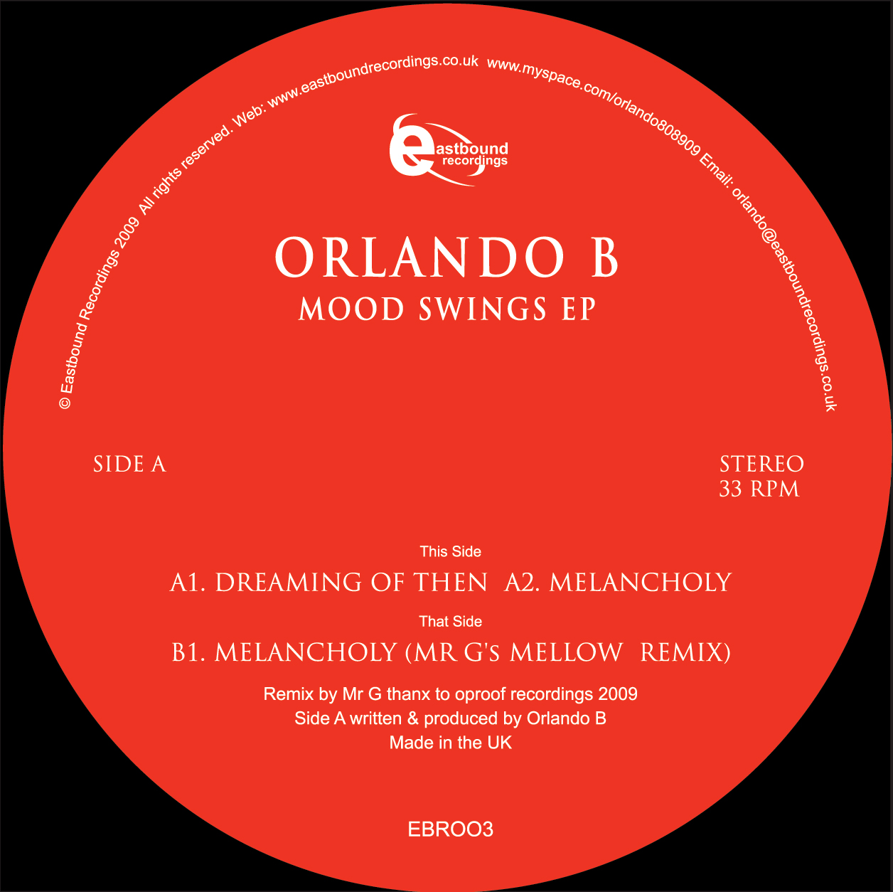 Orlando B - Mood Swings EP